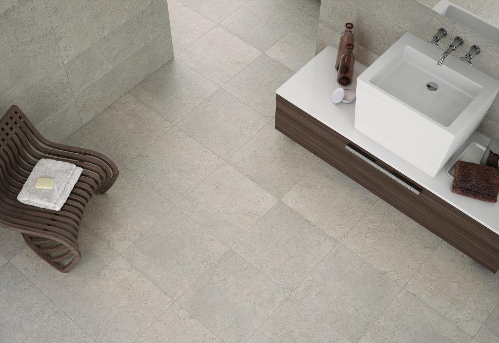 concrete baño
